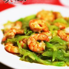 虾仁炒莴苣笋的做法