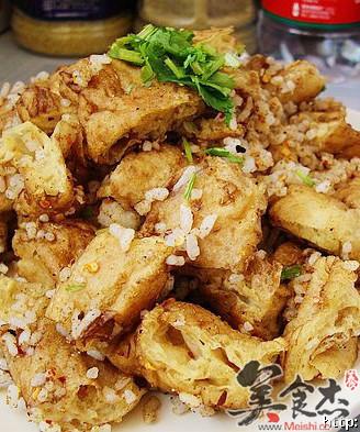 孜然米饭炒油饼的做法
