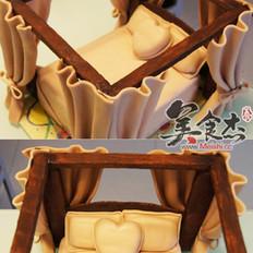 欧式床翻糖蛋糕