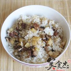 荷叶蒸米饭