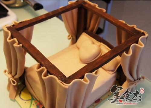 欧式床翻糖蛋糕的做法