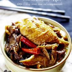 榛蘑炖鸡块的做法