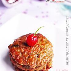 煎荸荠牛肉饼的做法
