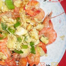 基围虾炒蛋的做法