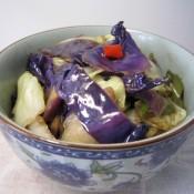 耗油包菜橄榄菜的做法