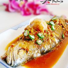 红油黄花鱼的做法