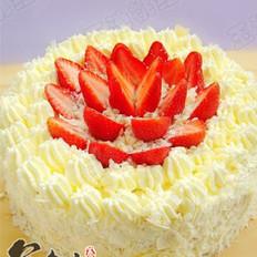 草莓白森林蛋糕的做法