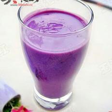 自制紫薯奶昔