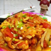 西红柿鸡蛋炒瓠子的做法