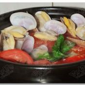 西红柿花蛤汤