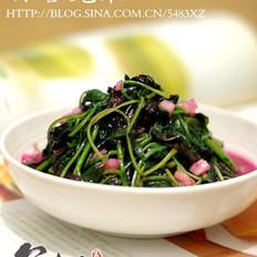 蒜蓉苋菜/苋菜汤泡饭的做法