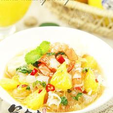鲜橙泰式开胃虾的做法
