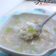 山药鸡丝双米粥