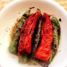 肉酿彩色虎皮椒的做法