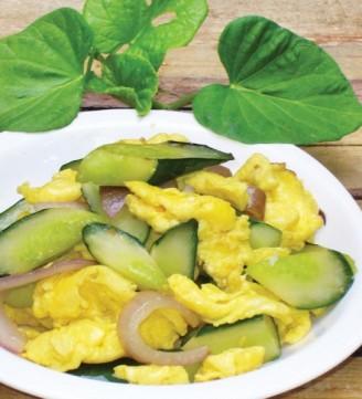 洋葱青瓜炒蛋的做法【步骤图】_菜谱_美食杰