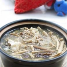 茶树菇牛骨煲的做法
