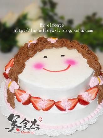 小美女蛋糕的做法