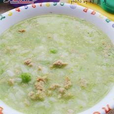 豌豆瘦肉粥的做法