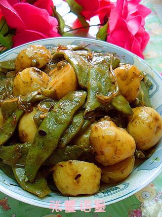 东北夏季豆角上的常菜小土豆酱烧做法的餐桌鲜海蜇头为啥拿热水煮图片