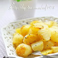 黑椒橄榄油烤小土豆