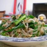 韭菜银芽炒粉丝