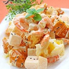 水果蝦仁油條沙拉的做法
