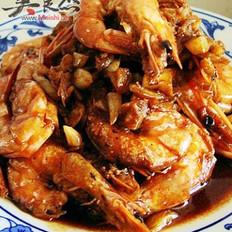 蒜香焖虾的做法