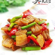 蒜苔香辣回锅肉的做法