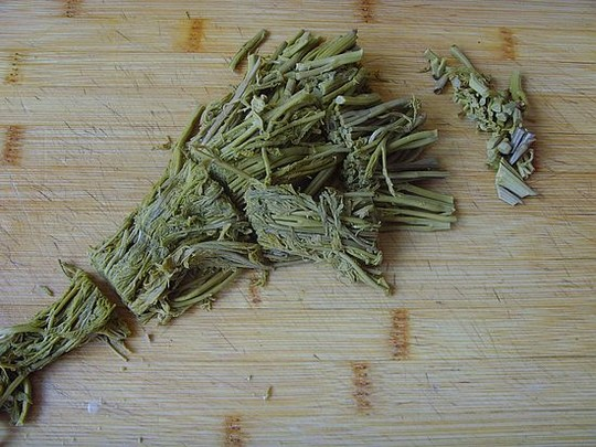 凉拌木兰芽的做法