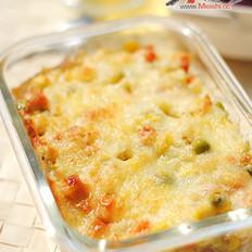 五彩杂蔬奶酪焗饭的做法