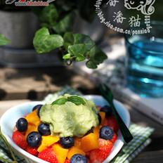 牛油果酱水果沙拉