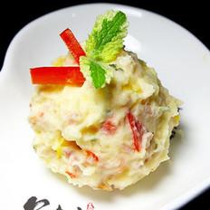 五彩土豆培根沙拉的做法