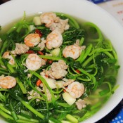 虾仁上汤苋菜的做法