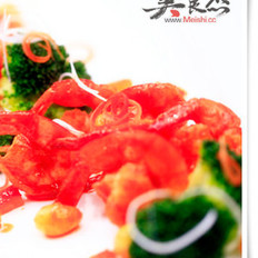 酸辣银杏凤尾虾
