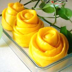 黄玫瑰花卷