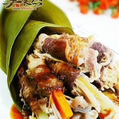 粽香牛肉卷的做法