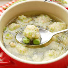 豌豆蝦丸湯的做法