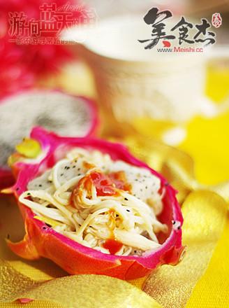 金针菇与火龙果妙趣组合的做法