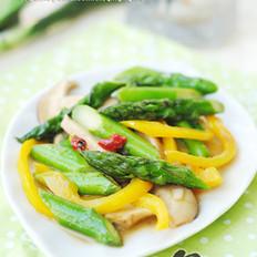 鲜菇芦笋小炒
