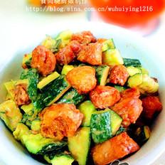麻汁油條拌黃瓜的做法