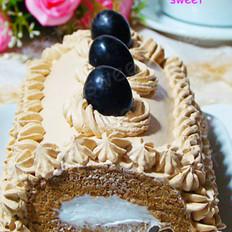 黑加仑咖啡蛋糕卷