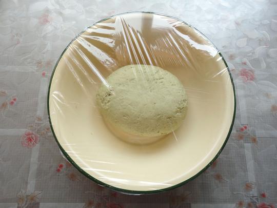 花式面点(3)——抹茶豆沙包的做法