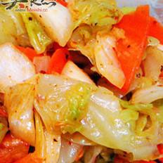 麻辣圓白菜的做法