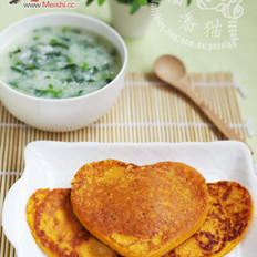南瓜蛋饼的做法