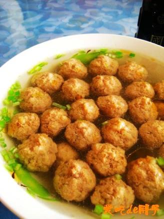 【鲁菜】汆牛肉丸子的做法_家常【鲁菜】汆牛肉丸子的