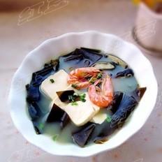 鲜虾海带豆腐汤的做法