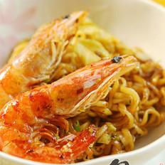 泰式黑胡椒鲜虾面的做法