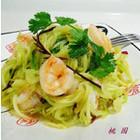 蒜油虾仁炝莴苣
