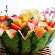 西瓜水果盅的做法