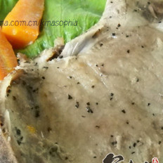 烤大排烤杂蔬的做法